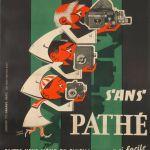 Affiche promotionnelle des appareils Pathé - 1954